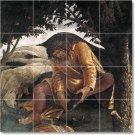 Botticelli Religious Backsplash Mural Wall Design Modern Interior