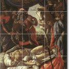 Botticelli Historical Mural Bathroom Tile Renovate Traditional