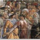 Botticelli Historical Wall Tiles Mural Room Design Modern Home