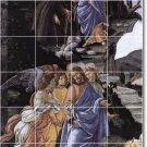 Botticelli Religious Room Mural Tile Dining Remodeling Home Ideas