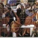 Botticelli Religious Tile Dining Room Mural Remodeling Ideas Home
