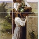 Bouguereau Children Murals Tile Shower Wall Design Renovations