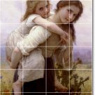Bouguereau Children Tiles Room Dining Mural Wall Remodel House