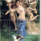 Bouguereau Nudes Mural Tiles Shower Interior Renovation Modern