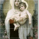 Bouguereau Mother Child Bathroom Tile Mural Remodel Floor Modern