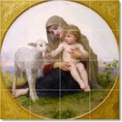 Bouguereau Mother Child Shower Tiles Renovation Traditional Home