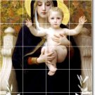 Bouguereau Mother Child Bathroom Tile Mural Traditional Renovate