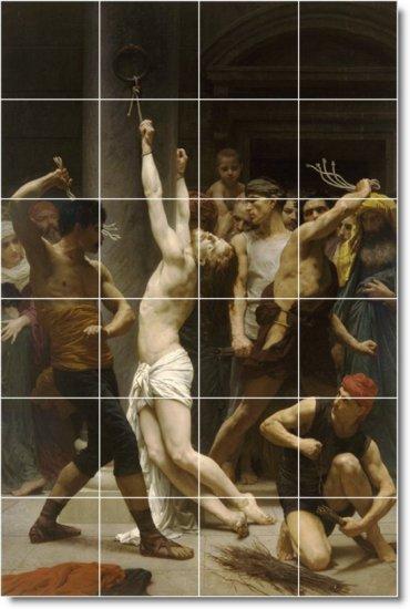 Bouguereau Religious Mural Kitchen Tile Backsplash Ideas Renovate