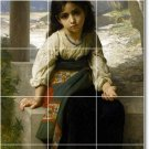 Bouguereau Children Bathroom Shower Wall Tile Decor Commercial