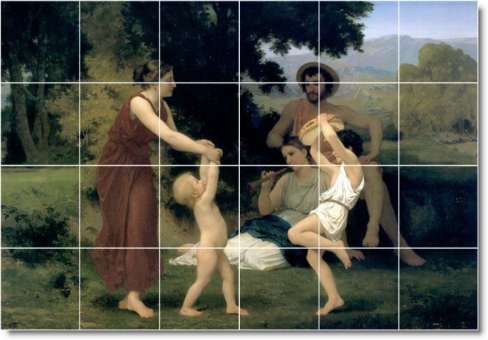 Bouguereau Mother Child Wall Murals Wall Bedroom Home Modern Art