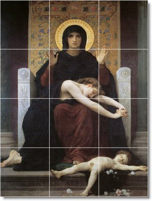 Bouguereau Religious Floor Bathroom Tiles Design Remodeling House