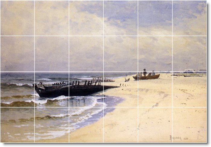 Bricher Waterfront Room Tile Dining Mural Home Renovate Modern