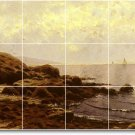 Bricher Waterfront Mural Dining Room Tile Renovate Home Modern