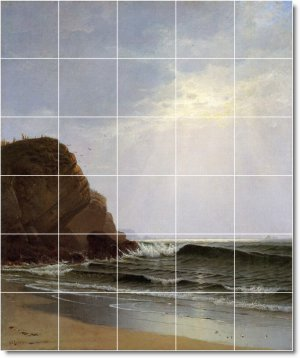 Bricher Waterfront Mural Tiles Room Wall Decorate Modern House