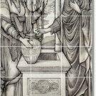 Burne-Jones Illustration Mural Dining Room Residential Art