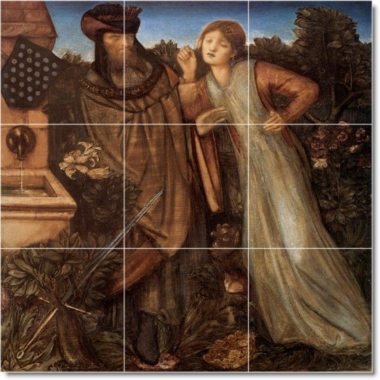 Burne-Jones Historical Tiles Floor Room Dining Home Modern Art