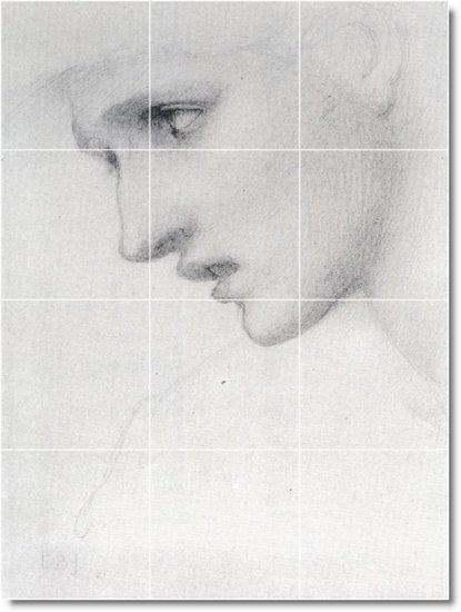 Burne-Jones Illustration Tile Mural Shower Ideas Renovate