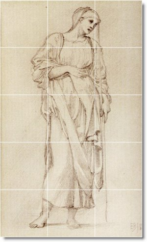 Burne-Jones Illustration Mural Bathroom Tile Home Remodel