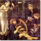 Burne-Jones Mythology Backsplash Wall Wall Murals Modern Decor