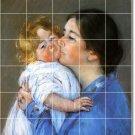 Cassatt Mother Child Shower Wall Tile Bathroom Modern Renovations