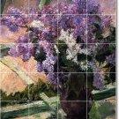 Cassatt Flowers Tile Murals Room Wall Dining Remodel Ideas Home
