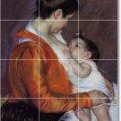 Cassatt Mother Child Mural Backsplash Wall Tile Renovate Interior