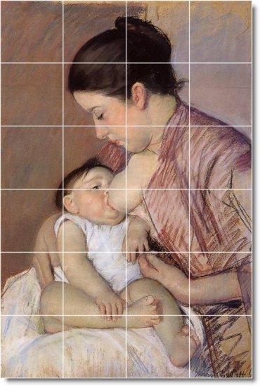 Cassatt Mother Child Tiles Room Floor Mural Decorating House Idea