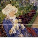 Cassatt Women Mural Shower Tiles Wall Renovations Interior Idea