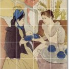Cassatt Women Room Murals Tile Dining Traditional House Remodel