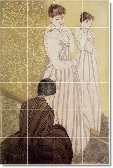 Cassatt Women Murals Room Wall Tile Renovate House Contemporary