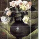 Chase Flowers Tiles Shower Mural Wall Traditional Remodel House