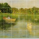 Chase Waterfront Dining Room Wall Tile Mural Modern Remodeling