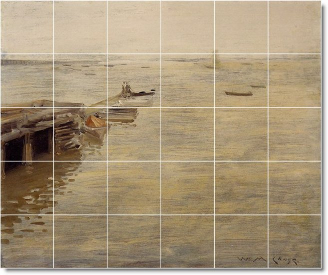 Chase Waterfront Tile Wall Dining Mural Room Decor Floor Decor