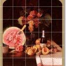 Chase Fruit Vegetables Mural Dining Tile Room Home Remodel Art