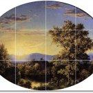 Church Landscapes Shower Bathroom Tile Murals Design Floor Decor