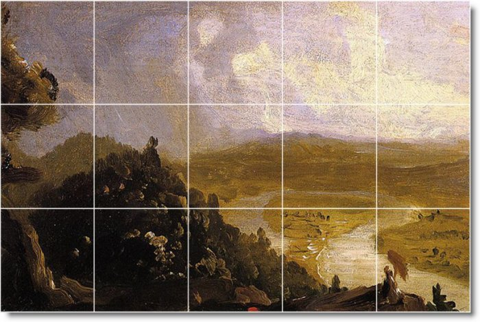 Cole Landscapes Shower Tile Wall Mural Renovate Interior Ideas