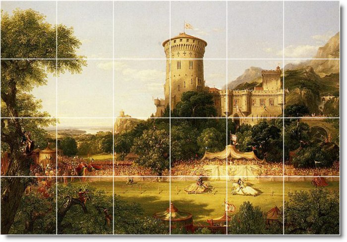 Cole Historical Room Tiles Floor Mural Remodeling Contemporary