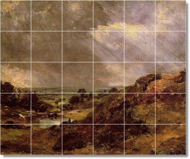 Constable Landscapes Dining Mural Room Wall Wall Remodeling House