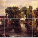 Constable Country Room Dining Murals Tile Remodel Interior Decor
