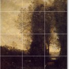 Corot Country Bathroom Floor Murals Wall House Remodeling Ideas