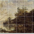 Corot Country Wall Shower Mural Tiles Bathroom Ideas Remodeling