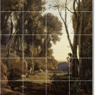 Corot Landscapes Bathroom Tile Shower Wall Floor Decor Remodel