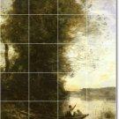 Corot Landscapes Shower Bathroom Tile Wall Decor Floor Remodel