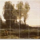 Corot Landscapes Mural Room Living Tile Interior Design Modern
