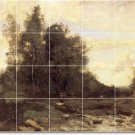 Corot Landscapes Mural Tile Living Room Design Interior Modern