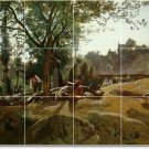 Corot Country Murals Dining Wall Room Wall Renovation Idea Home