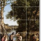 Corot Religious Wall Shower Tiles Mural Remodel Interior Decor