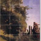 Corot Country Mural Shower Bathroom Wall Traditional Remodeling