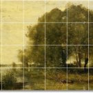 Corot Landscapes Murals Shower Tile Wall House Modern Renovate