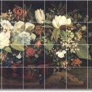 Courbet Flowers Wall Mural Tiles Shower Decor Interior Remodel